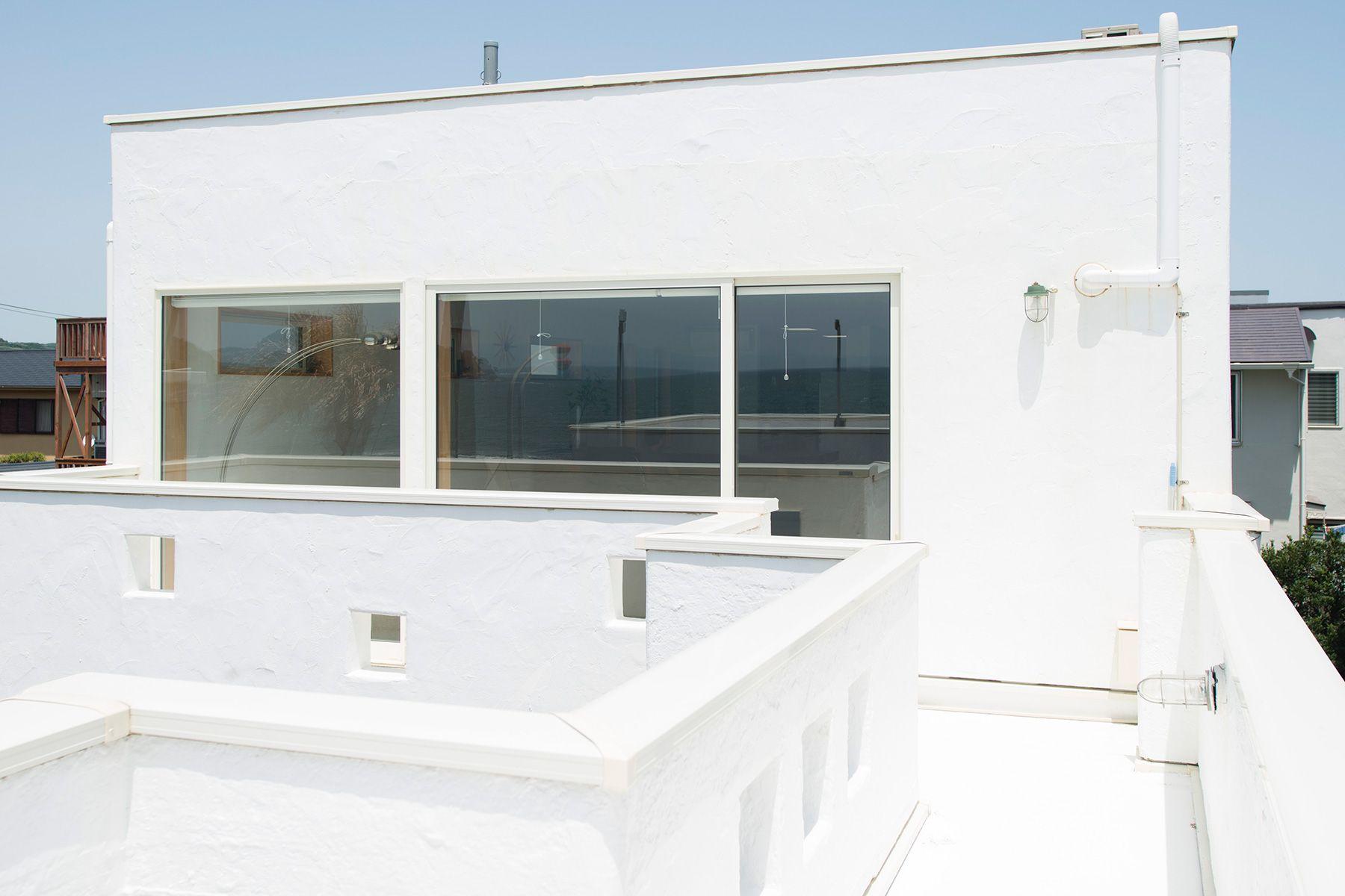 MOKU(モク 材木座)テラスから2階リビング向き