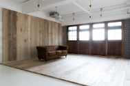 Studio Serato 笹塚 (スタジオセラート笹塚):木の壁