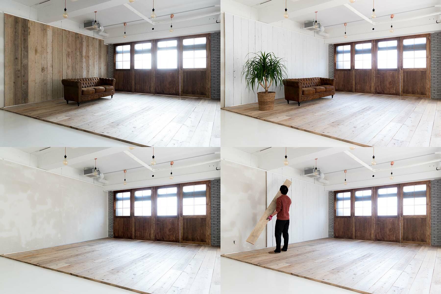 Studio Serato 笹塚 (スタジオセラート笹塚)入替可能な壁パネル(ホワイト)