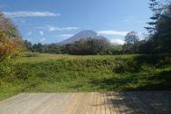 グリーンゲーブル富士ヶ嶺 (グリーンゲーブルフジガネ):ウッドデッキ 富士山