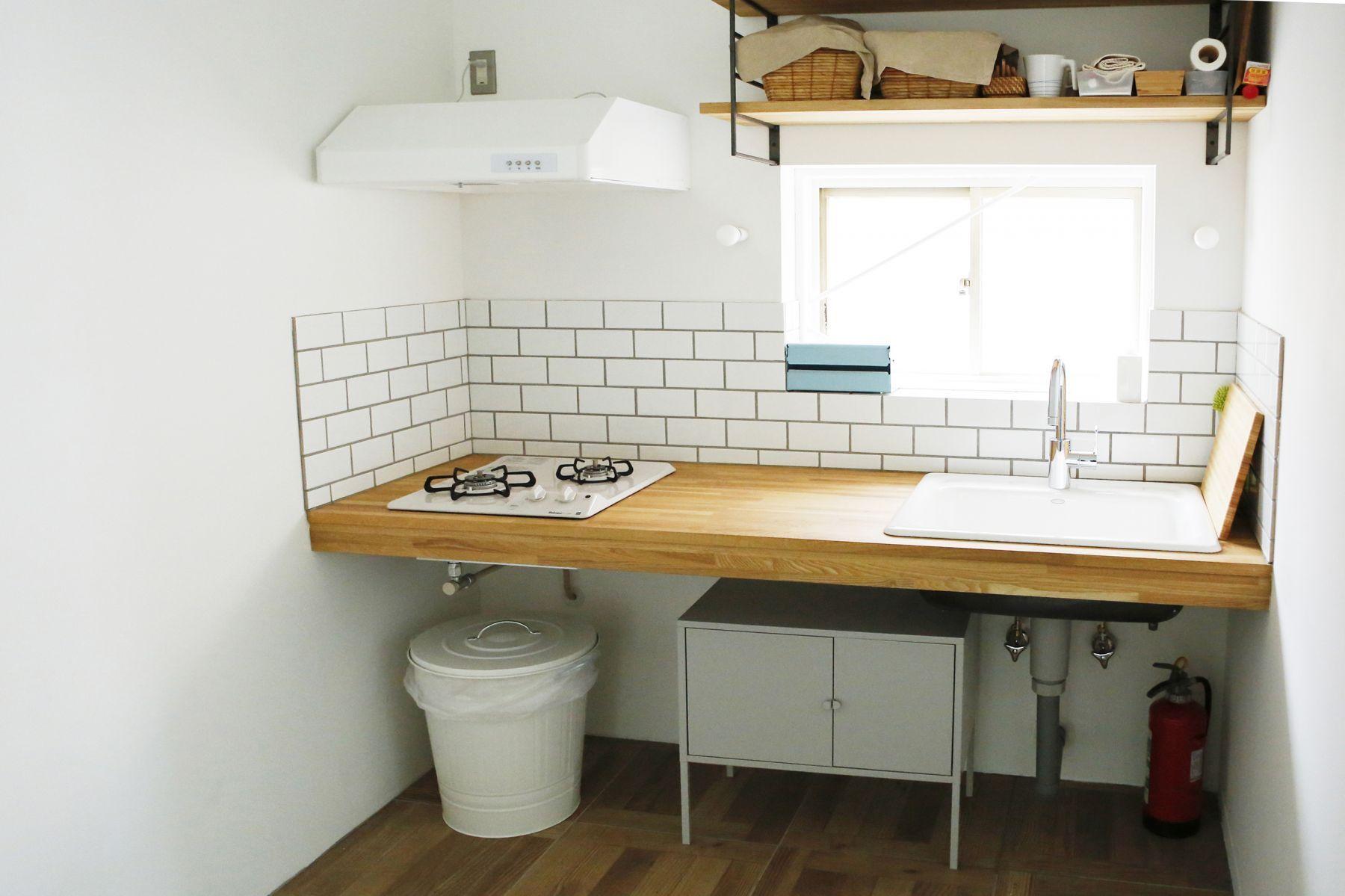 studio ConTRail (スタジオ コントレイル)キッチン 自然光撮影も可能