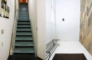 studio ConTRail (スタジオ コントレイル):左 外階段/右 扉前