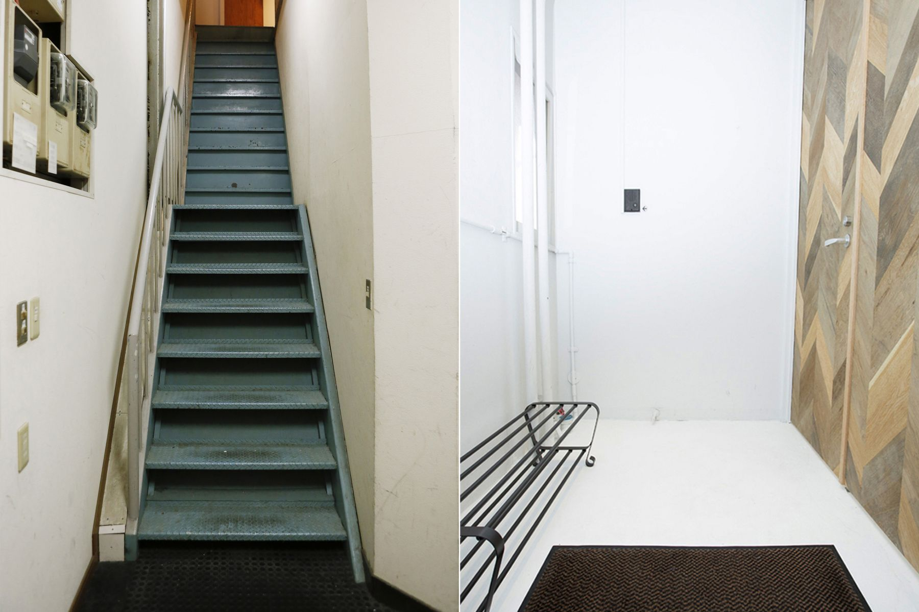 studio ConTRail (スタジオ コントレイル)左 外階段/右 扉前