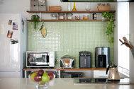 STUDIOFOGLIA HOME(3st):サイド光が入るキッチン