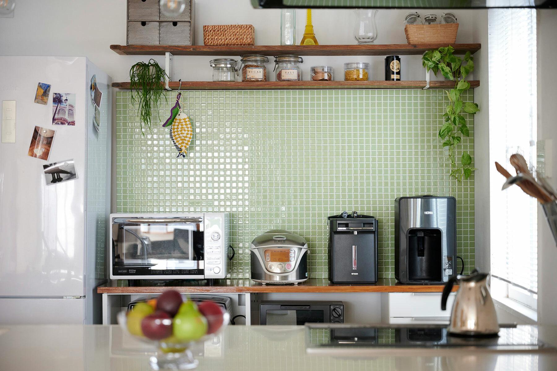 STUDIOFOGLIA HOME(3st)サイド光が入るキッチン