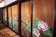 矢中の杜/旧矢中邸 国登録有形文化財 (やなかのもり):別館 食堂板戸絵