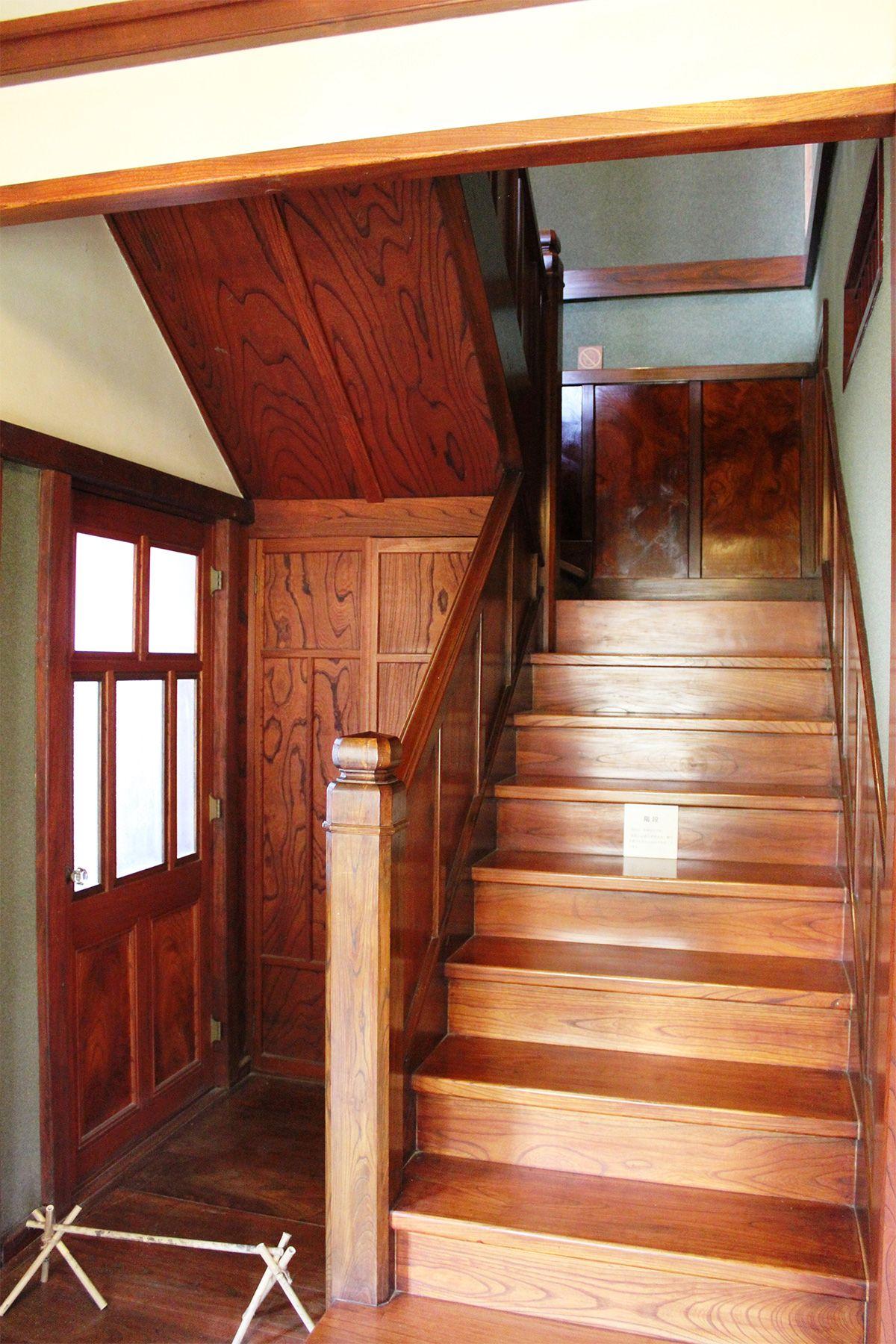 矢中の杜/旧矢中邸 国登録有形文化財 (やなかのもり)別館 ケヤキ造り階段