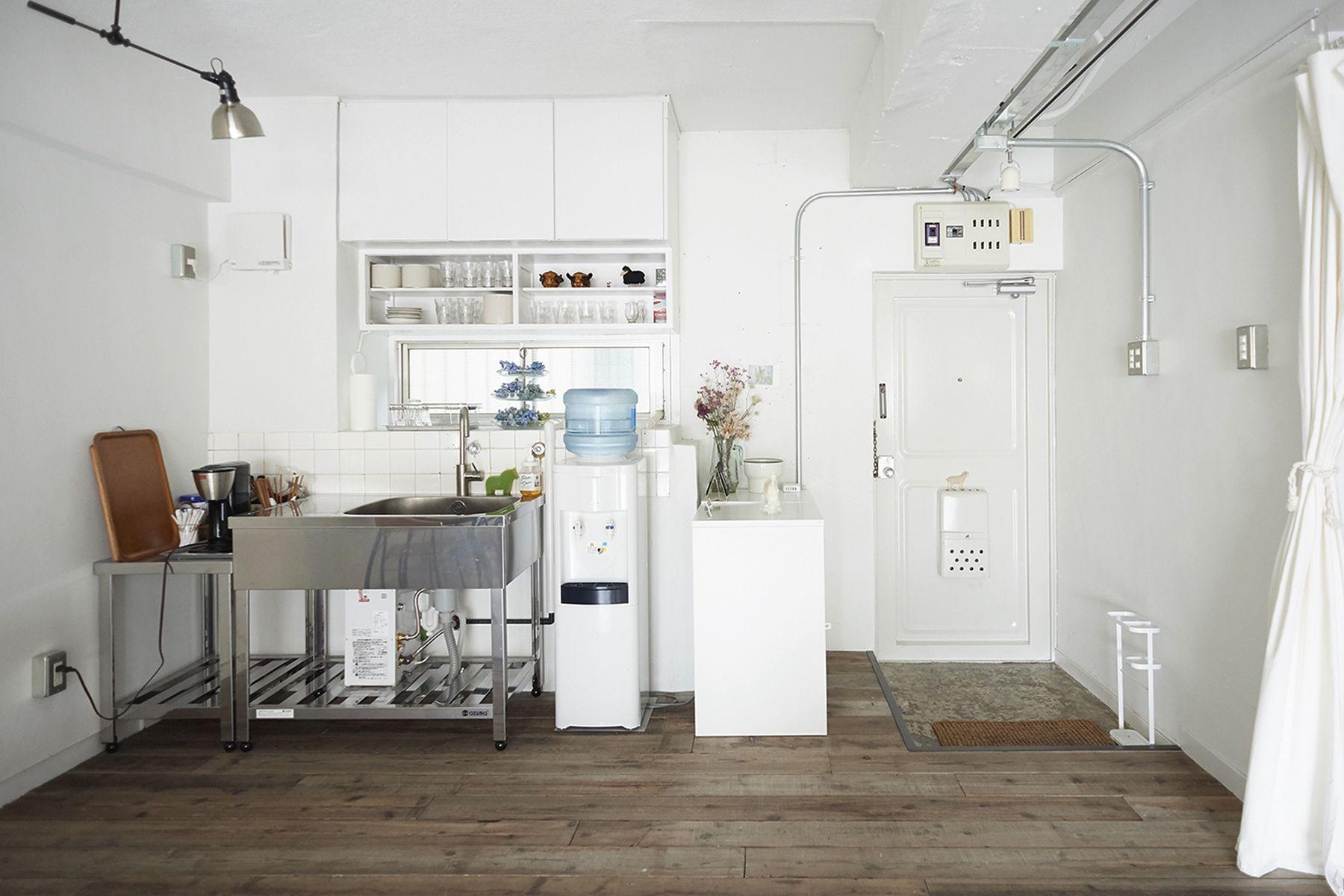 studio imelo(スタジオ イメロ)キッチンは足場板