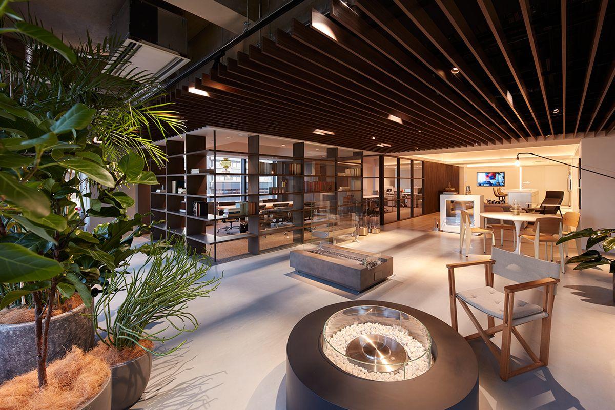 エコスマートファイヤー 大阪ショールームアウトドアリビングをイメージ