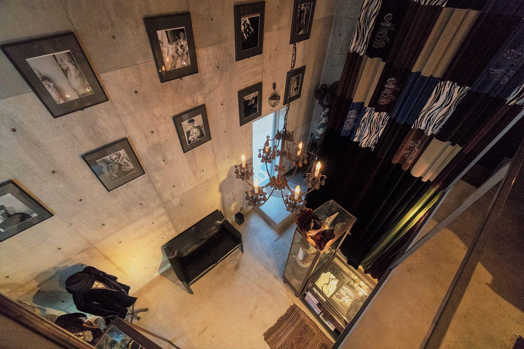 芝浦ADEスタジオ2Fから1Fの俯瞰撮影