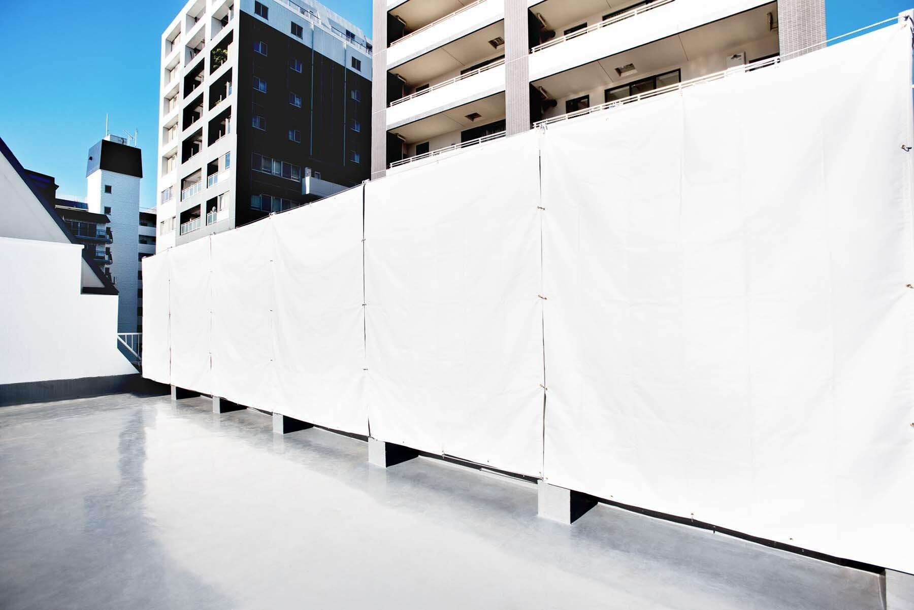 StudioBRICK RF (スタジオブリック八丁堀RF)白のテント地シート(無料)