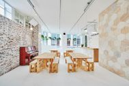 WHITE BALANCE (ホワイトバランス):レンガ壁と六角形の木の壁