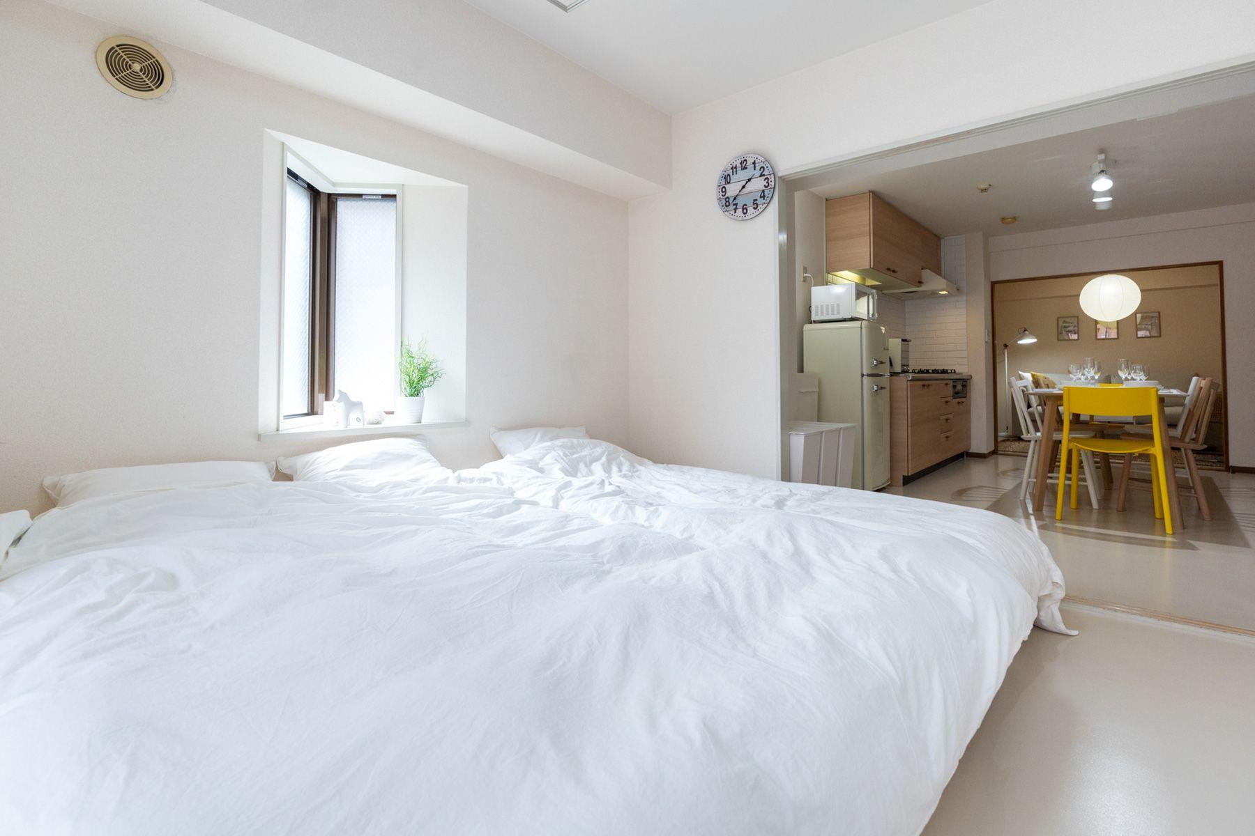 横浜第1スタジオベッドルーム&キッチン