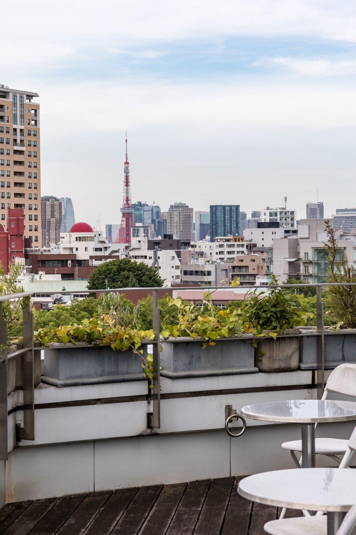 プラックス/ショールームバルコニー先には東京タワー
