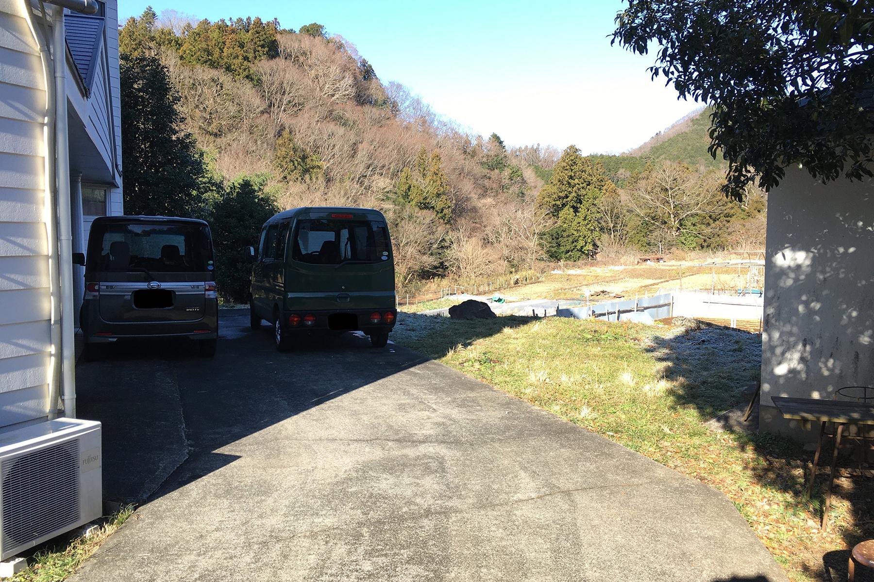 south/個人宅 (サウス)ウッドデッキ側 搬入口