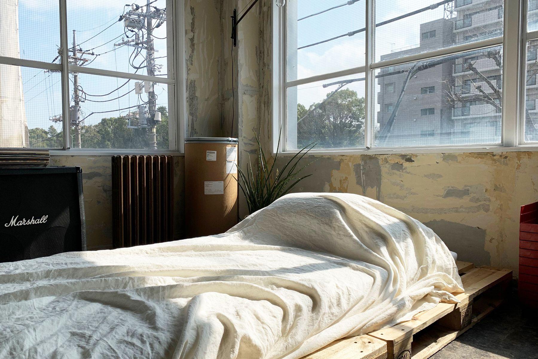 旧海岸第四スタジオシングルベッド