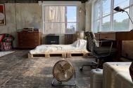 旧海岸第四スタジオ:ベッドは解体も可能