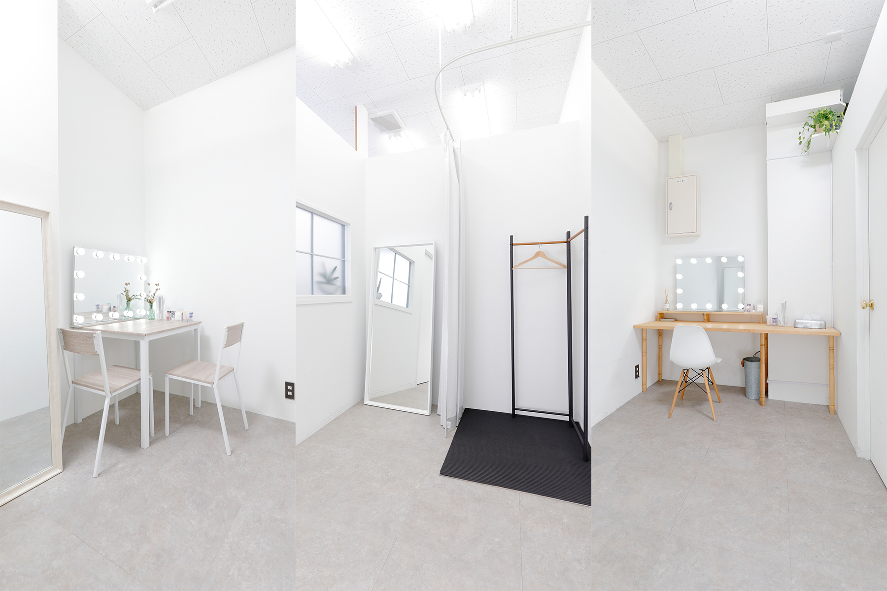STUDIO TWOBEE  (スタジオ トゥービー)ヘアメイクスペースと個室控室