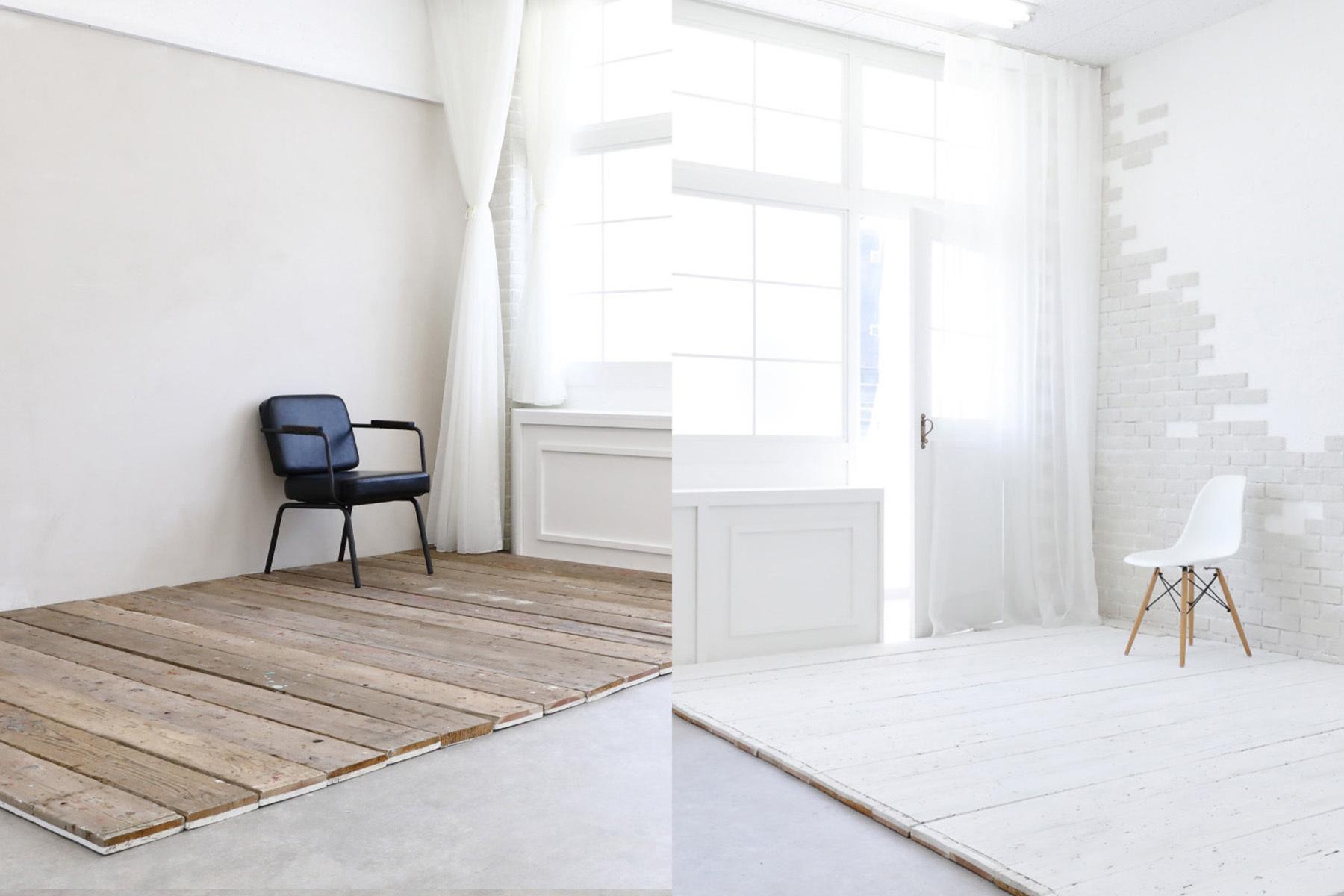 STUDIO TWOBEE  (スタジオ トゥービー)白窓の棚は小物などを置いて演出