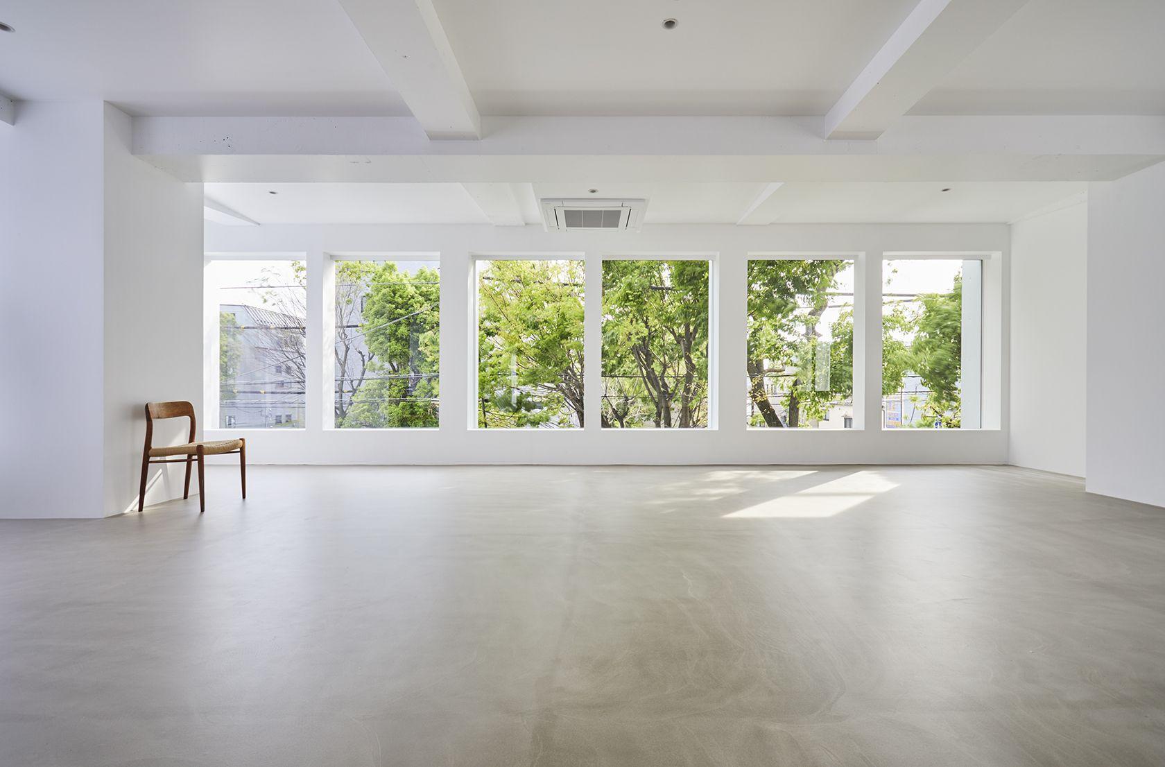 Haku Studio / SUNS窓越しの緑