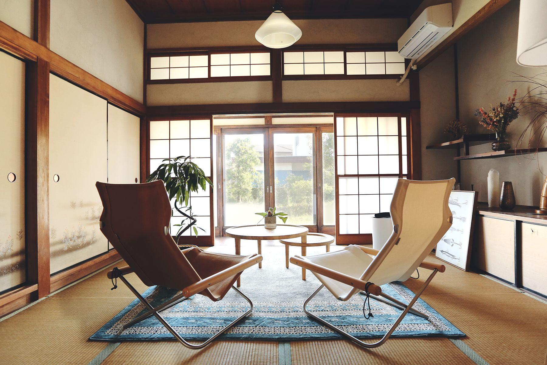 青い屋根の古民家スタジオ カマス邸昔ながらの雰囲気の和室