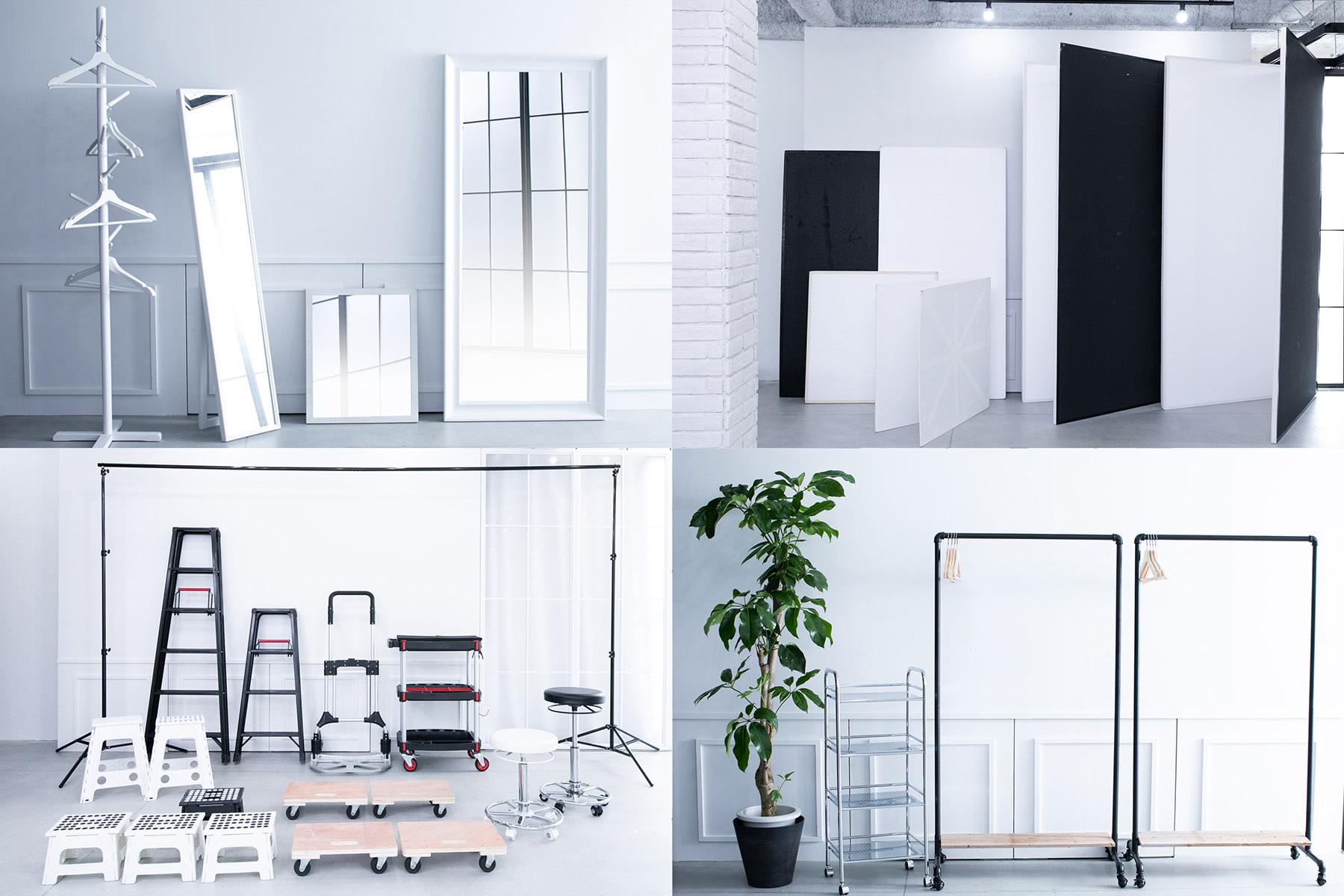 STUDIO FLYINGCAT (スタジオ フライングキャット)備え付けの家具や小物でアレンジ
