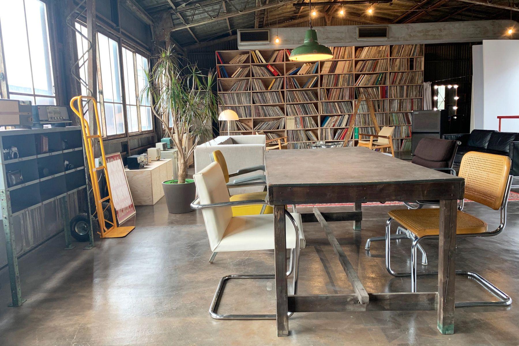 旧海岸第七スタジオクリエィティブを感じる空間