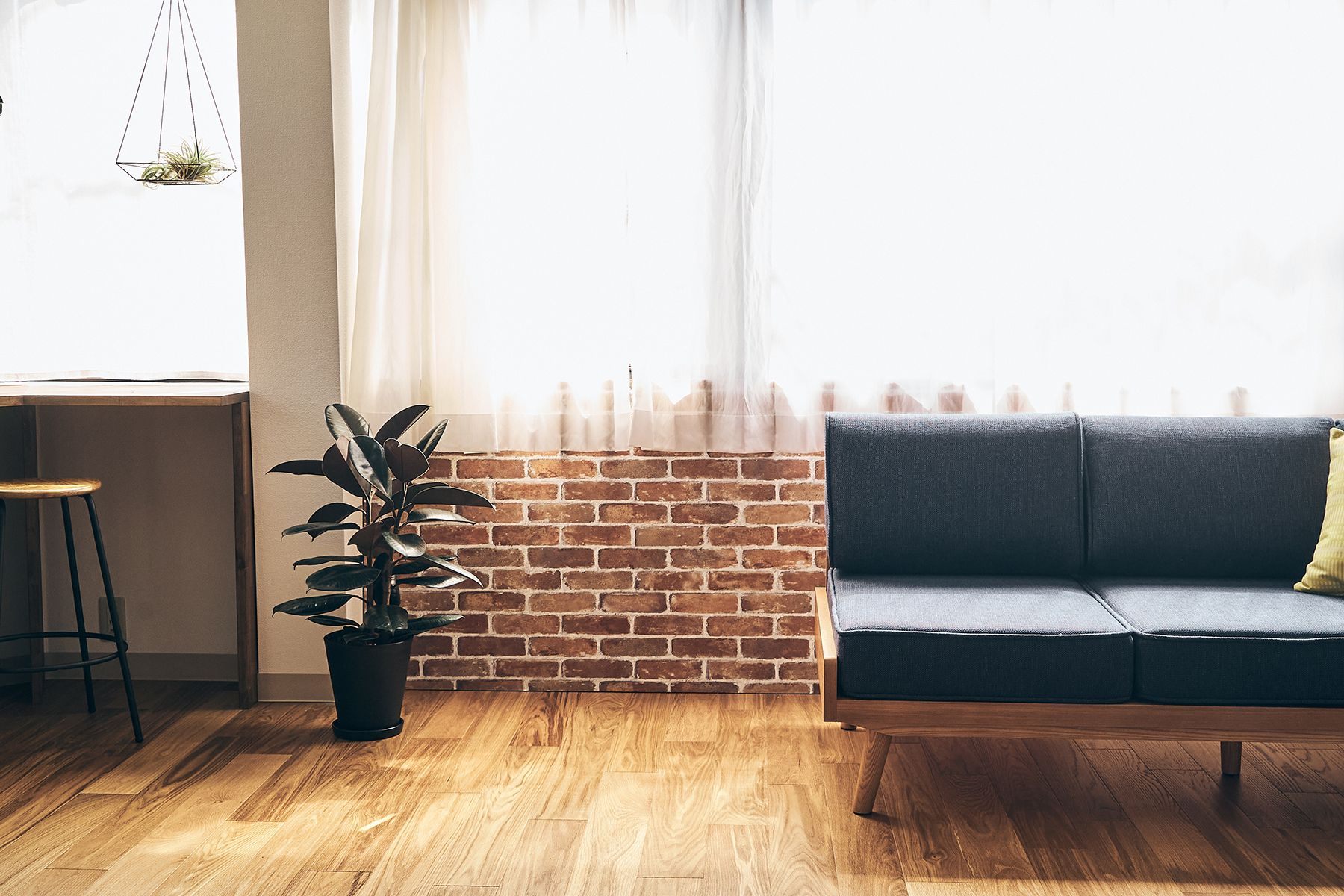 studio B (スタジオ ビー)2F 壁はパネルでアレンジ可能(煉瓦)