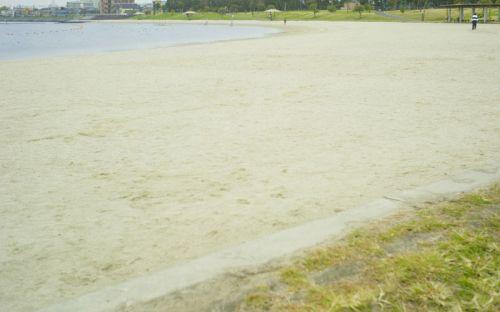 大森ふるさとの浜辺公園人工の浜辺