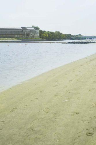 大森ふるさとの浜辺公園工場と海