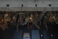 zero two THREE/アトリエ (ゼロ トゥー スリー):天井に吊ったドライフラワー
