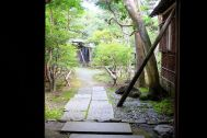 雪ノ下の茶亭:玄関からアプローチ側