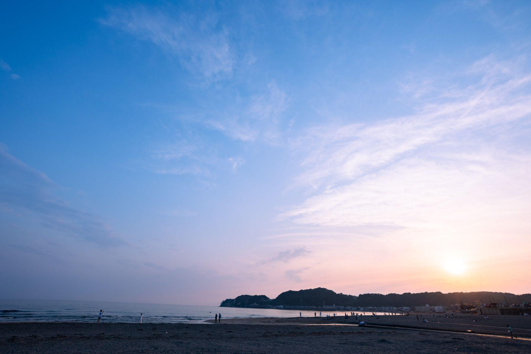 THE FLOW KAMAKURA (ザ フロウ カマクラ)至近の材木座ビーチ