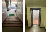 ROOVICE/オフィス (ルーヴィス):階段とエレベーターでの搬入