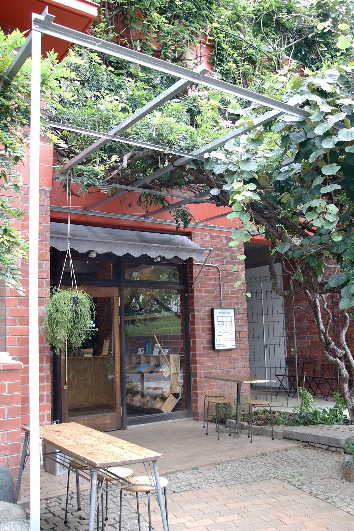 micotoya house (アイス屋/青果屋/shop)木々×煉瓦