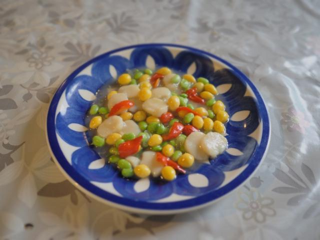 ホタテと銀杏の塩味炒め