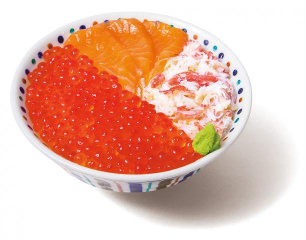 いくら・サーモン・蟹丼