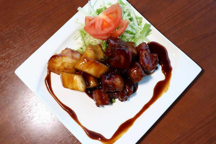 長芋黒酢酢豚