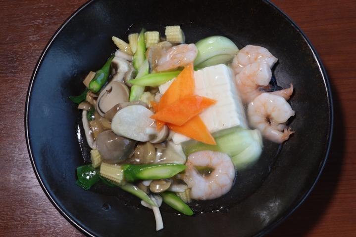 海老のあんかけ豆腐