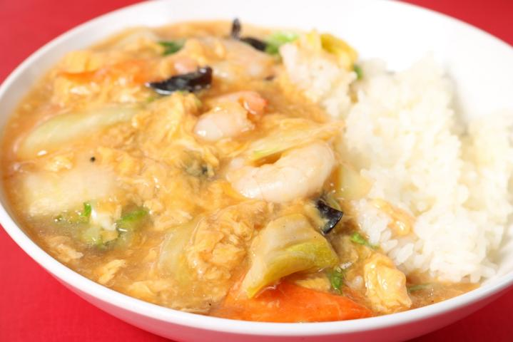 海老入り広東野菜丼
