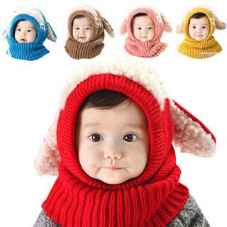 赤ちゃん ニット帽 うさぎ ニット帽子 帽子 ベビー キッズ 子 子供 用 防寒 選べる5色 【送料無料】