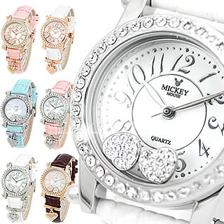 【 クーポン利用可 】ディズニー 腕時計 ミッキーマウス レディース 時計 限定モデル スワロフスキーウォッチ 女性用 送料無料