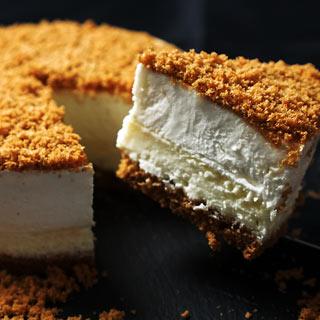 キャラメルドゥーブルフロマージュ デンマーク王室ご用達のクリームチーズBUKOを使ったチーズケーキ