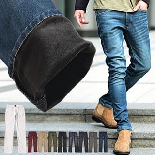 ◆送料無料◆ スキニーパンツ メンズ スキニー デニム スキニーデニム カラーパンツ 暖パン trend_d