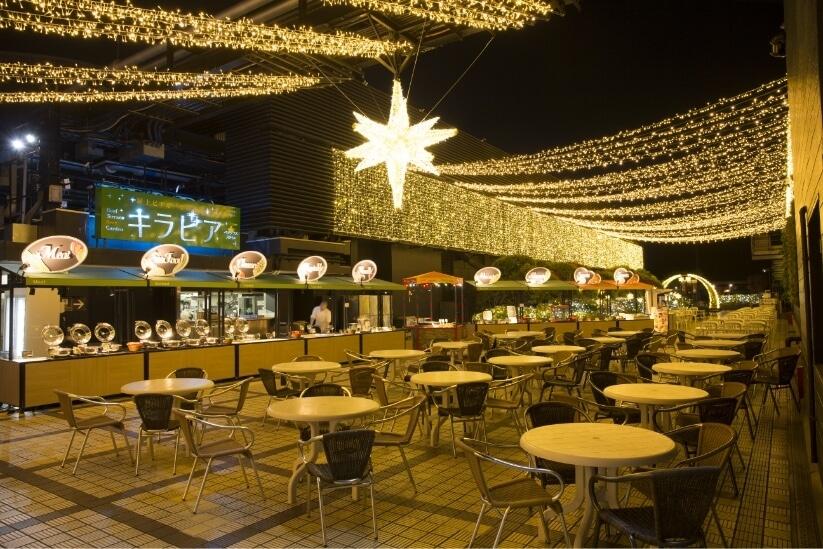 來頂樓露天啤酒酒吧「Kirabia Vegeplus Style」,體驗日式露天庭園酒吧!
