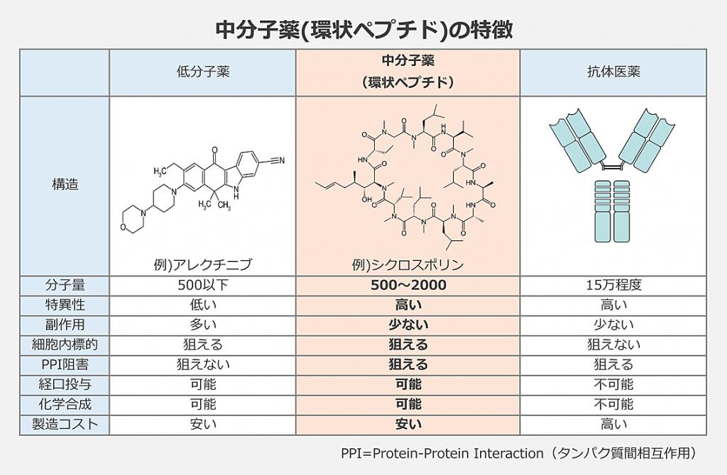 中分子薬特徴