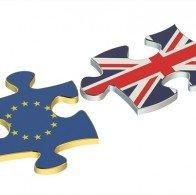 英国旗と欧州旗イメージ