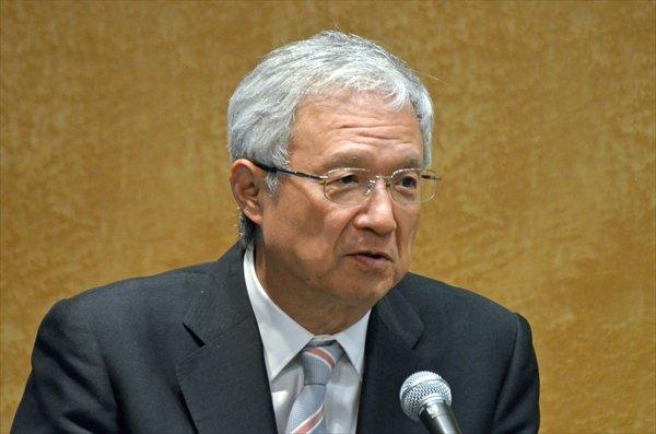 「標準治療を変革する治療を実現する」と語った第一三共の中山会長