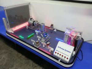 Hanon Systemsの排熱回収方式ヒートポンプシステムの写真