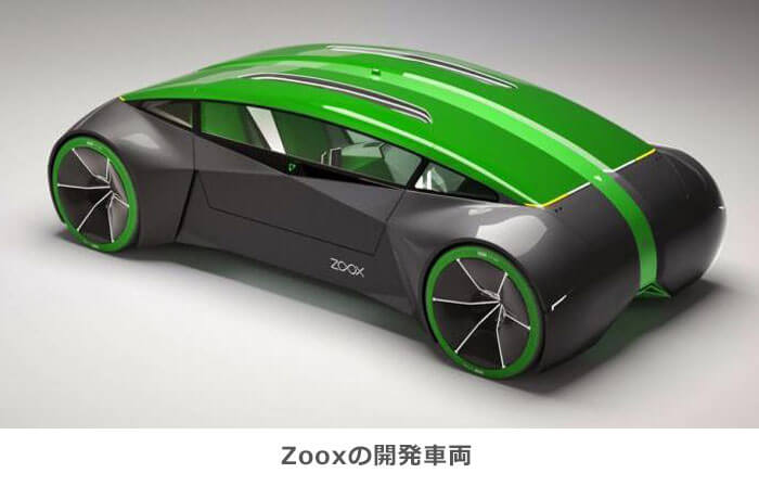 Zooxの開発車両のイメージ画像